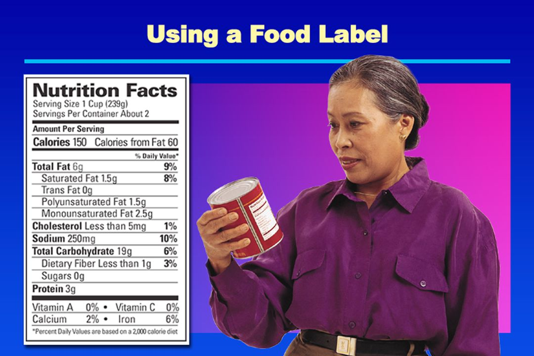 Using a Food Label