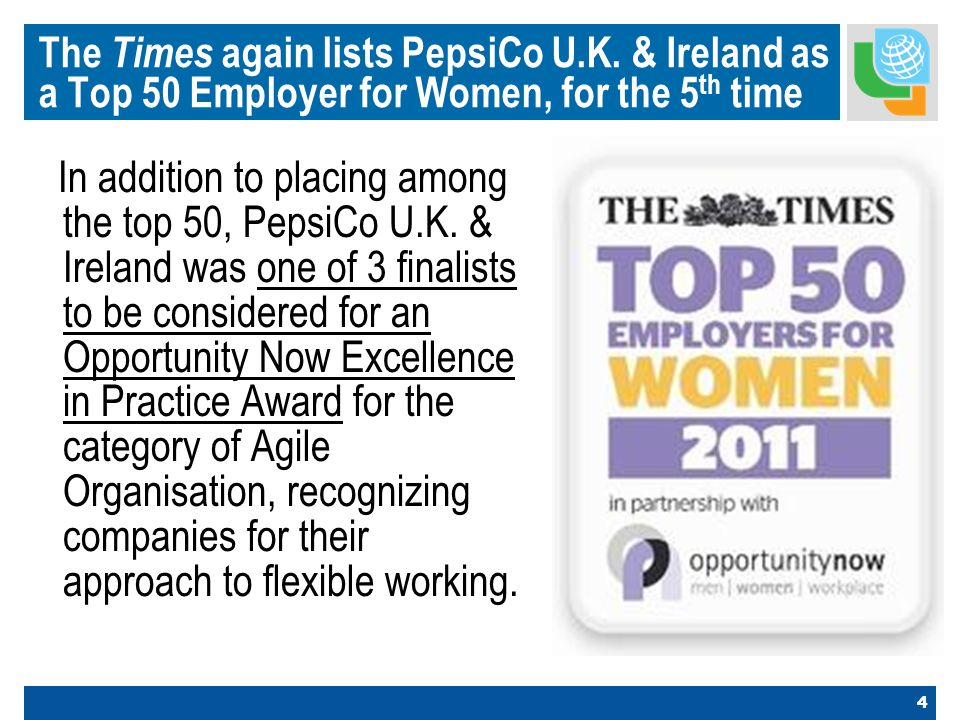 4 The Times again lists PepsiCo U.K.