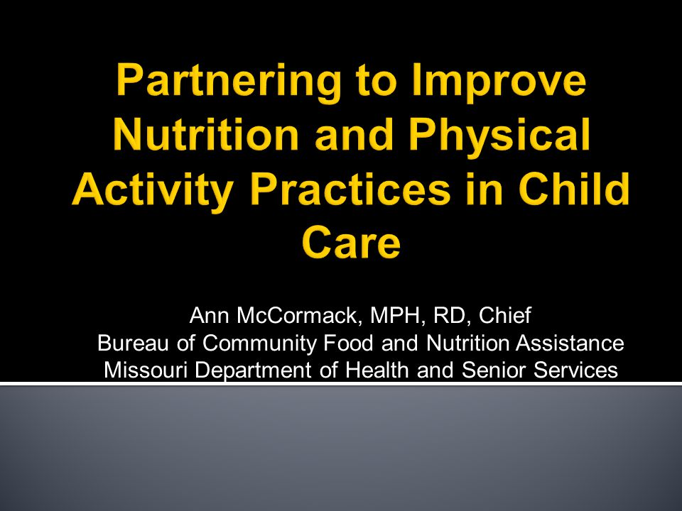  Eat Smart has been highlighted at national conferences  The Missouri Council on Activity and Nutrition (MOCAN) has established Eat Smart as one of its primary goals for Child Care.