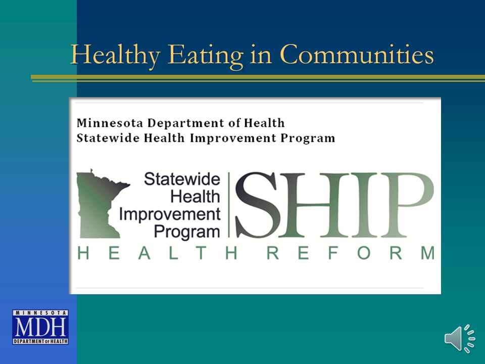 For More Information http://www.health.state.mn.us/heal threform/ship/training.html