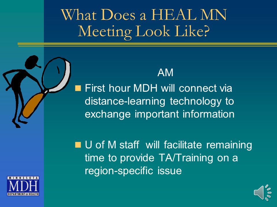 What Does a HEAL MN Meeting Look Like.