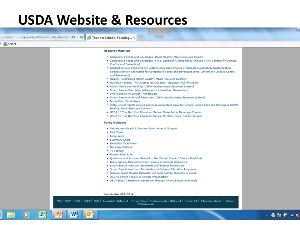 USDA Website & Resources