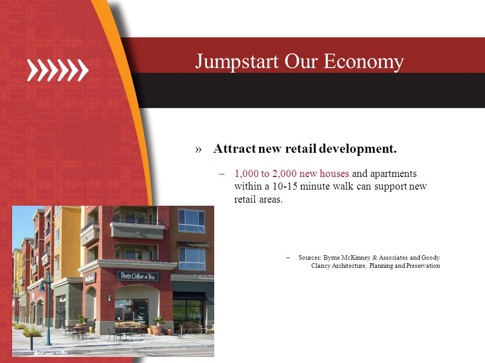 Jumpstart Our Economy »Attract new retail development.