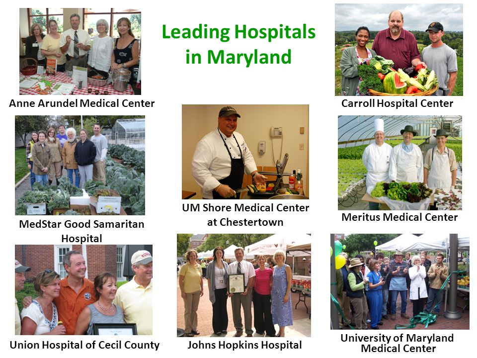 15 MD Hospitals Participating in Food Day 1.Calvert Memorial Hospital 2.