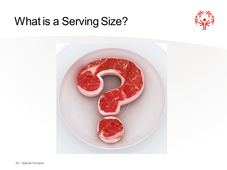 What is a Serving Size 14 / Special Olympics