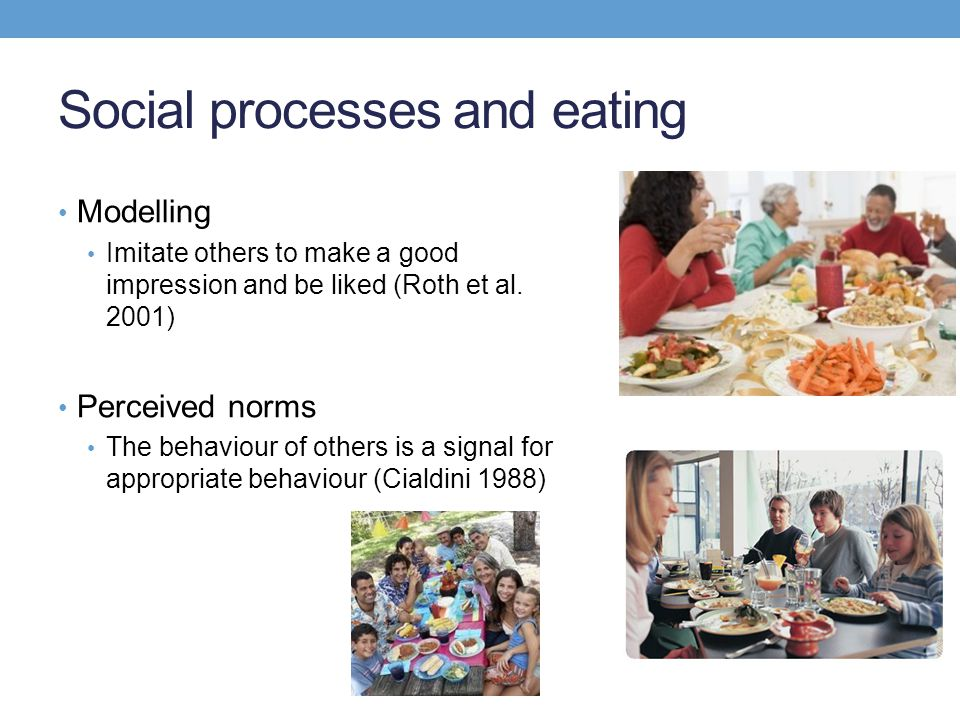 Perceived norms People tend to use the behaviour of others to guide behaviour Norm effects are observed even when individuals believe they are not being watched Robinson et al.