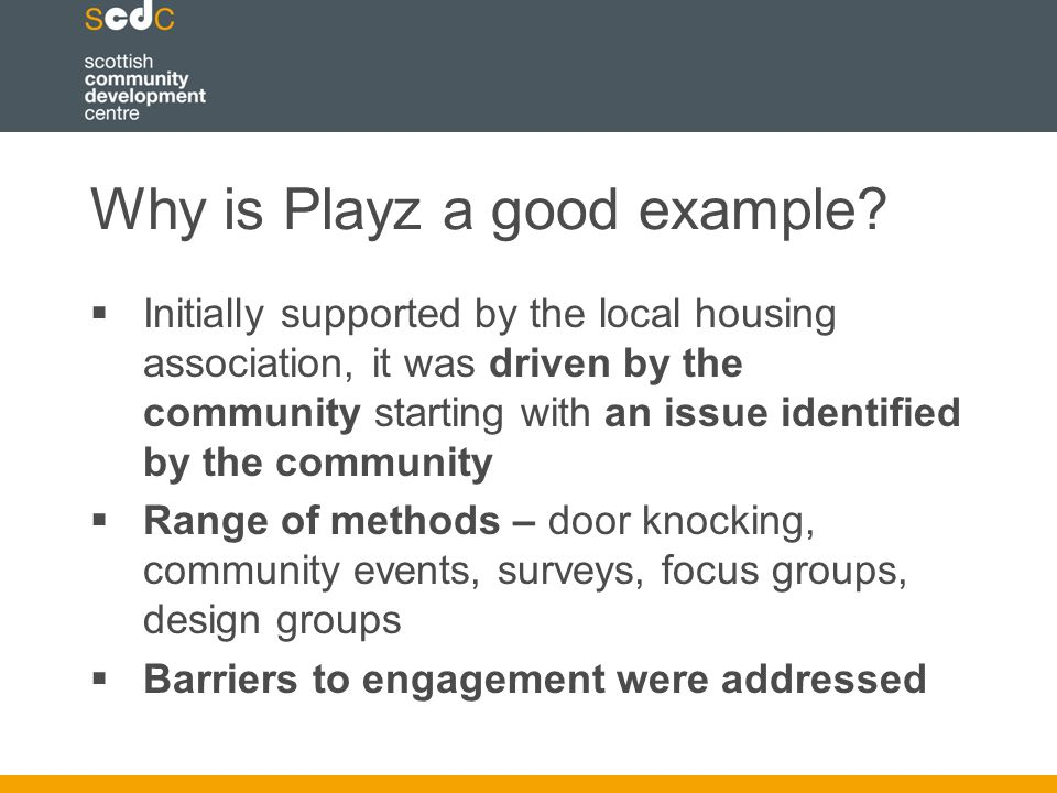 Why is Playz a good example.