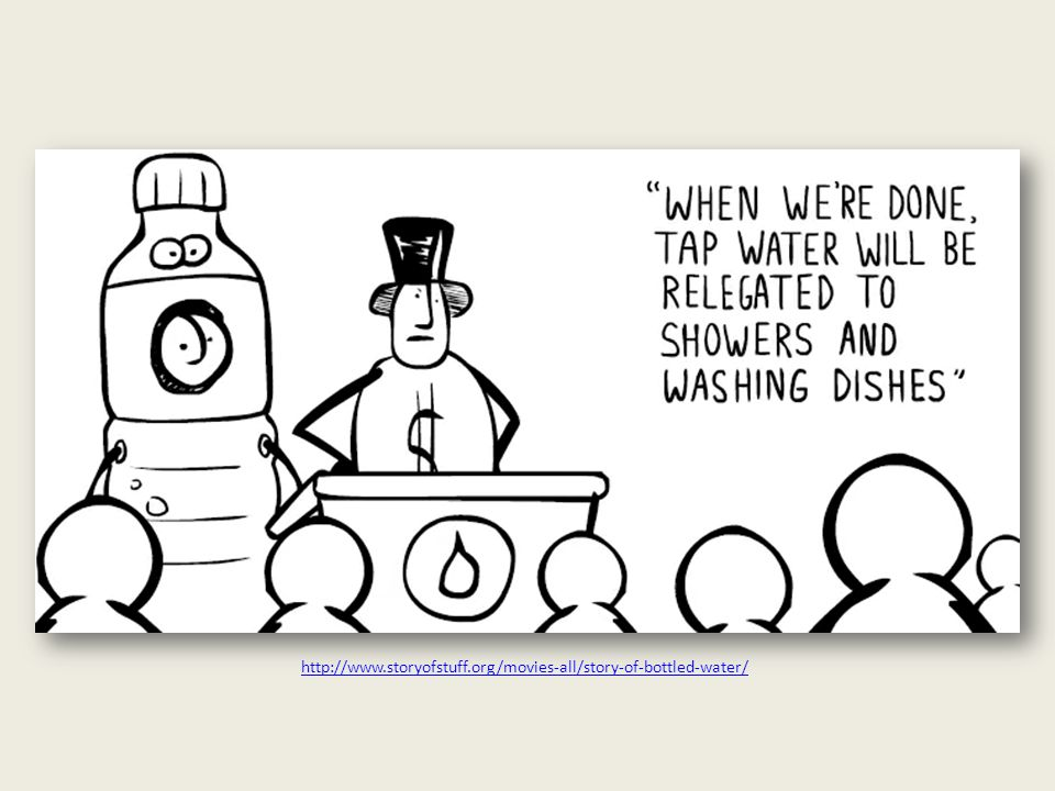 YOU need bottled water, says the industry, because...