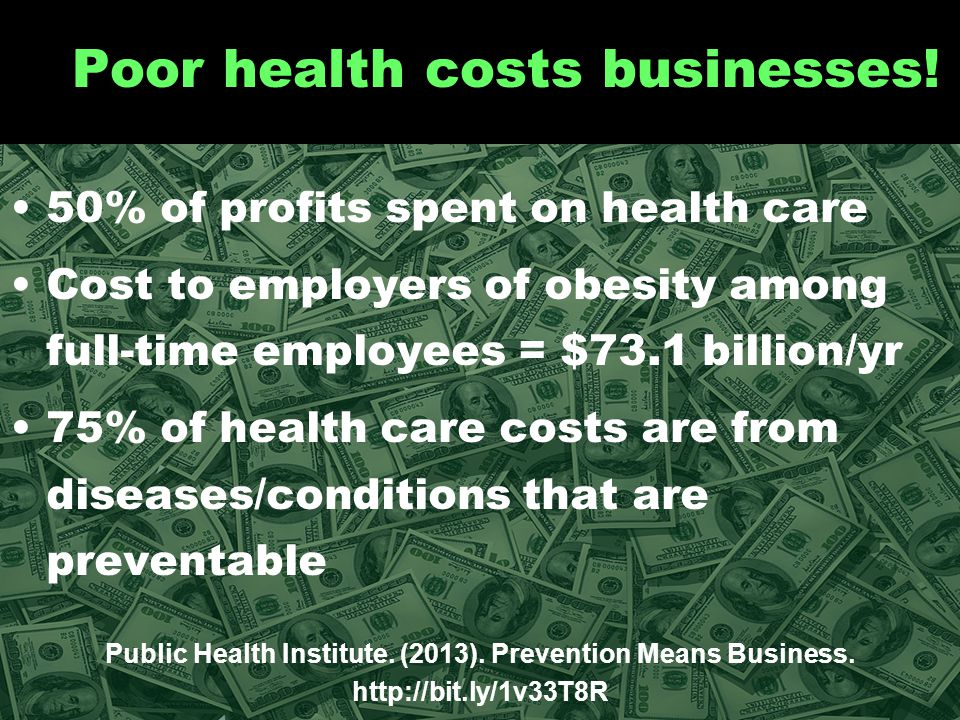 Prevention saves businesses money.