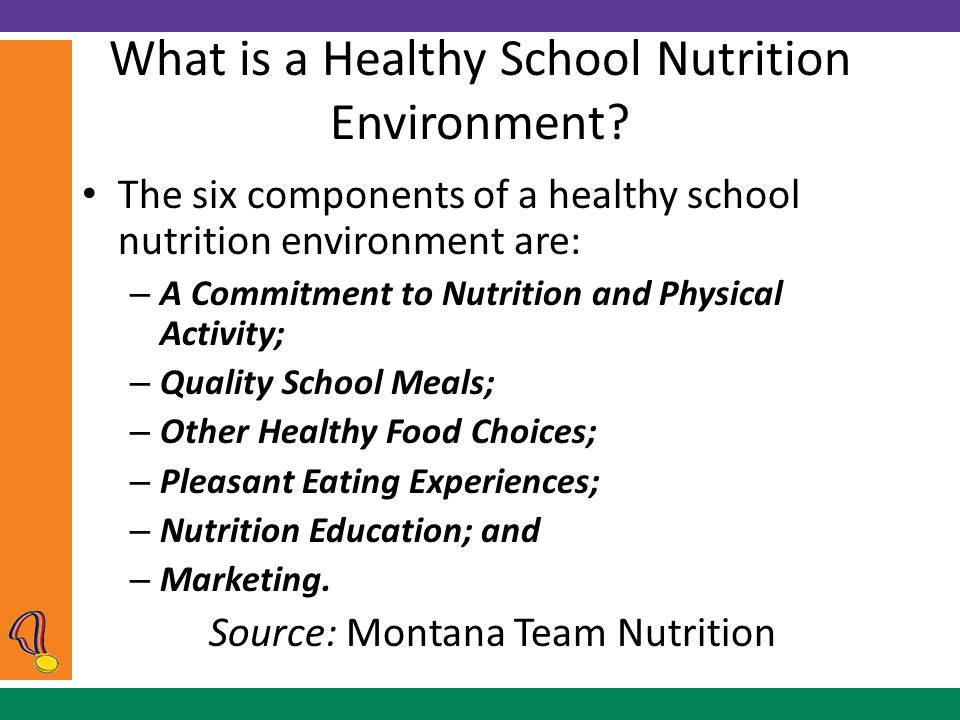 What is a Healthy School Nutrition Environment.