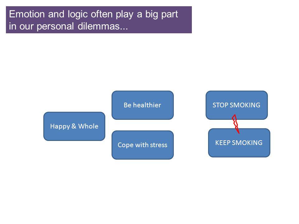 STOP SMOKINGBe healthier Cope with stress KEEP SMOKING Happy & Whole