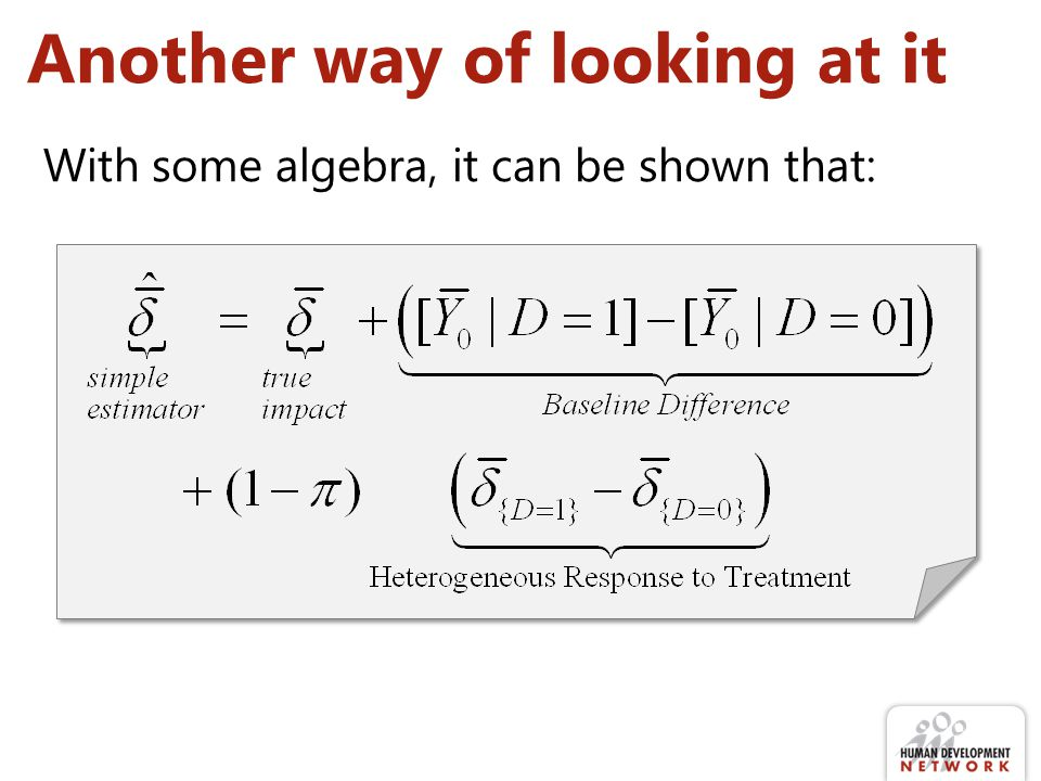 Another way of looking at it With some algebra, it can be shown that: