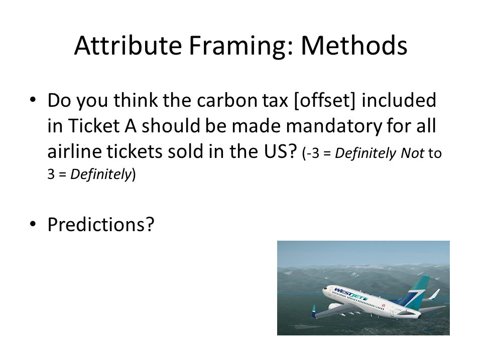 Do you think the carbon tax [offset] included in Ticket A should be made mandatory for all airline tickets sold in the US.