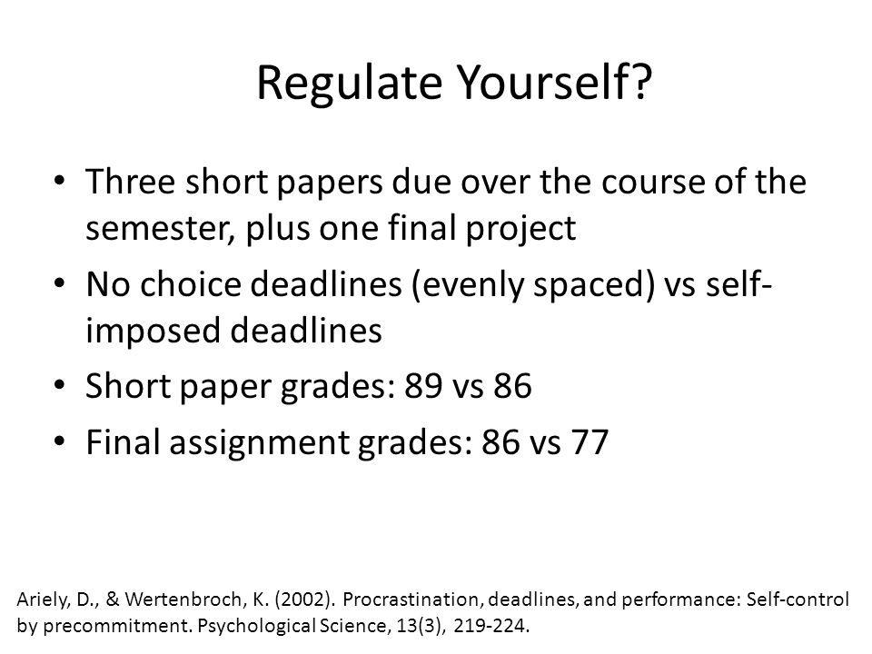 Regulate Yourself.