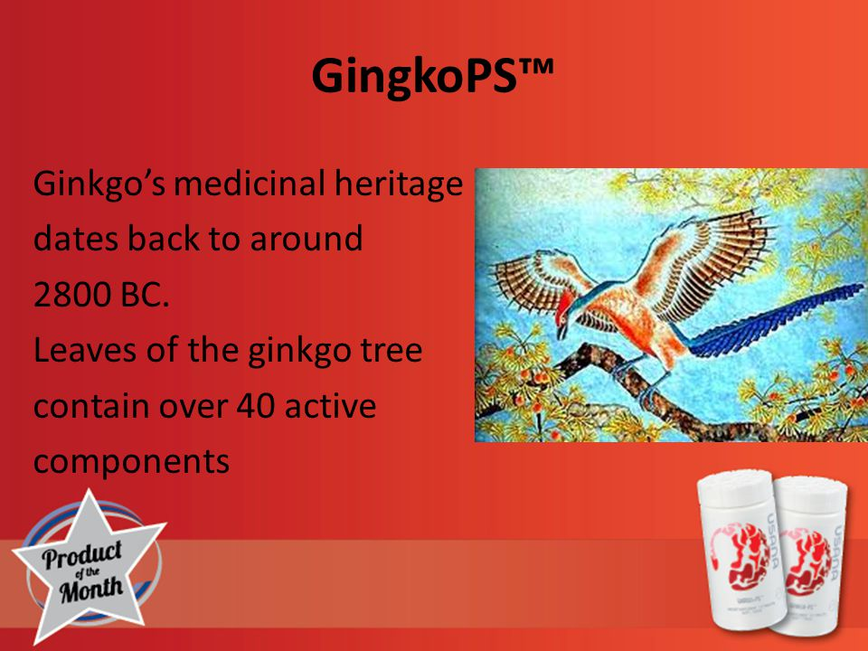 GingkoPS™ Ginkgo's medicinal heritage dates back to around 2800 BC.