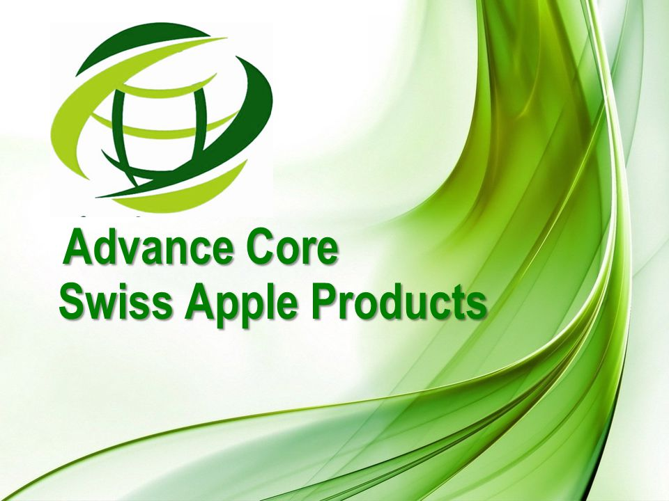 Advance Core Swiss Apple Products