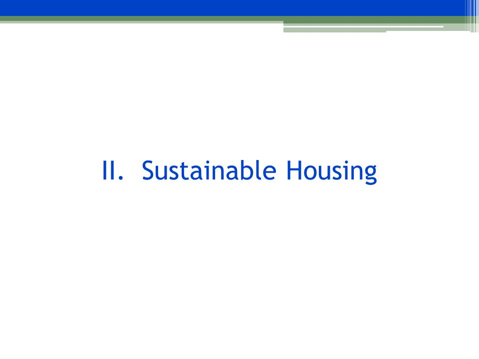 What is Sustainable Housing.