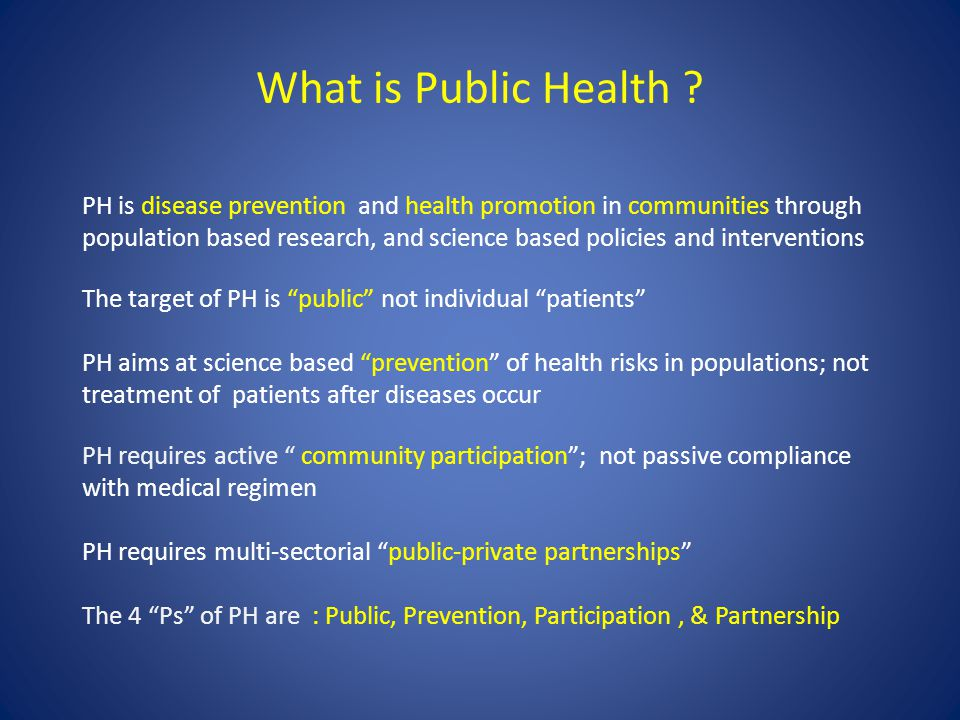 What is Public Health .