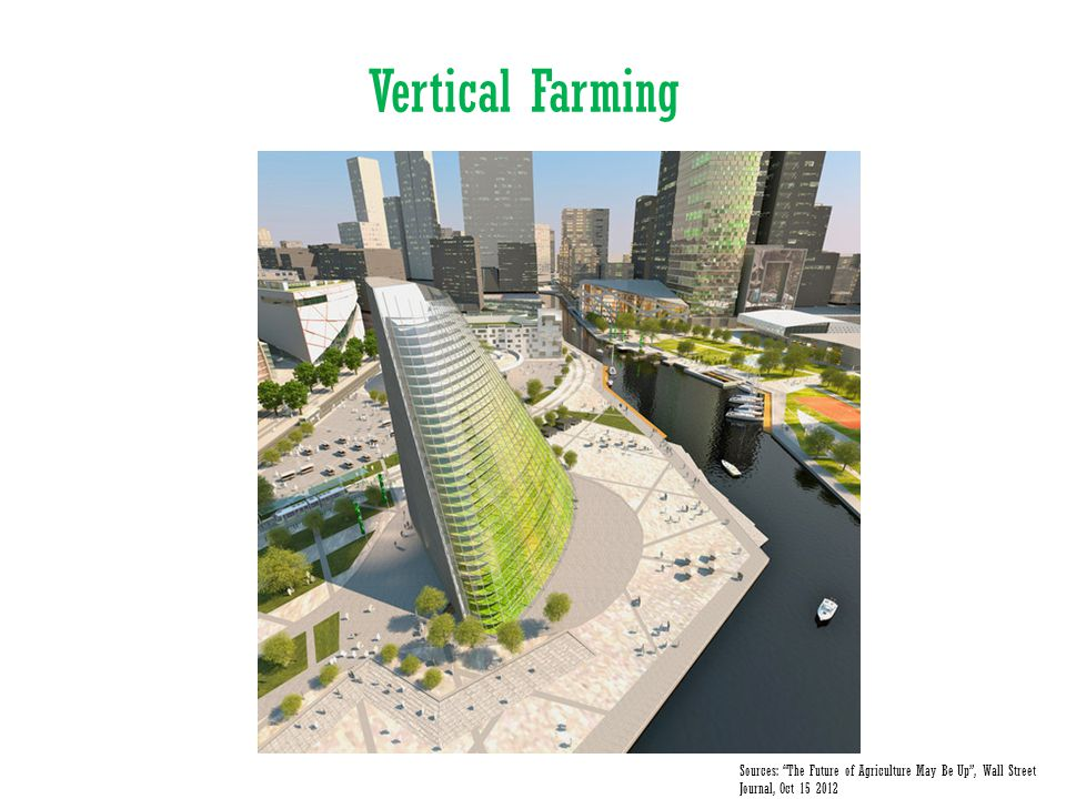 Vertical Farming Sources: The Future of Agriculture May Be Up , Wall Street Journal, Oct 15 2012