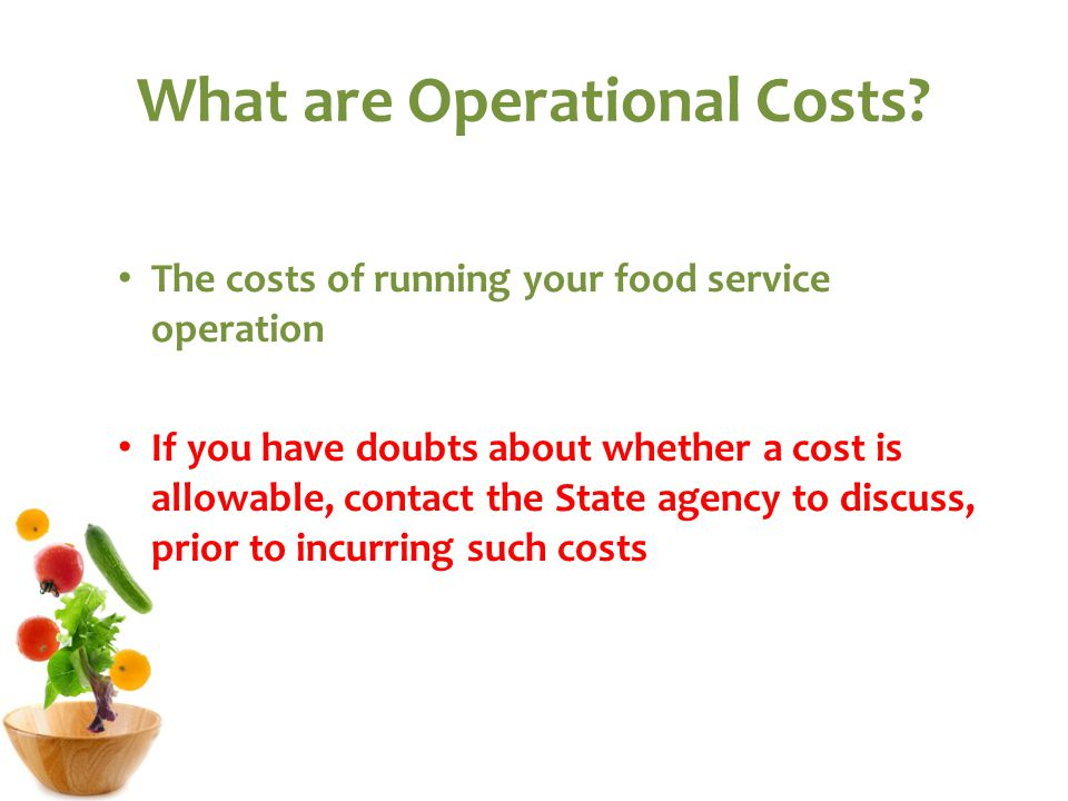 What are Operational Costs.