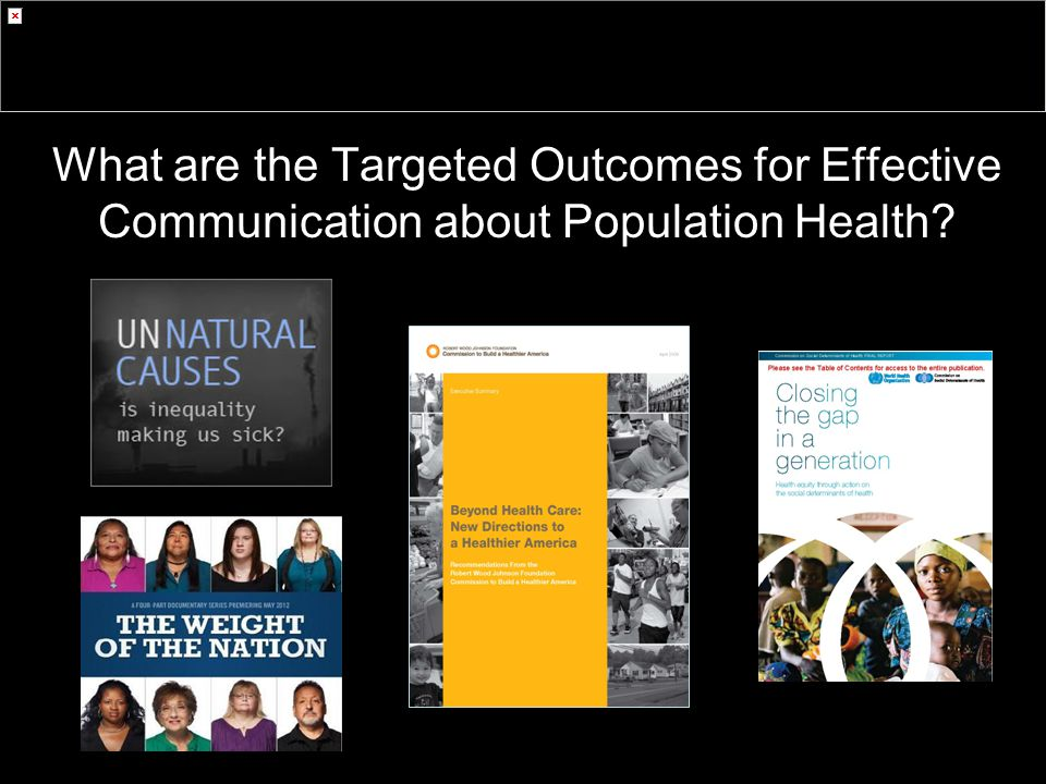 What are the Targeted Outcomes for Effective Communication about Population Health