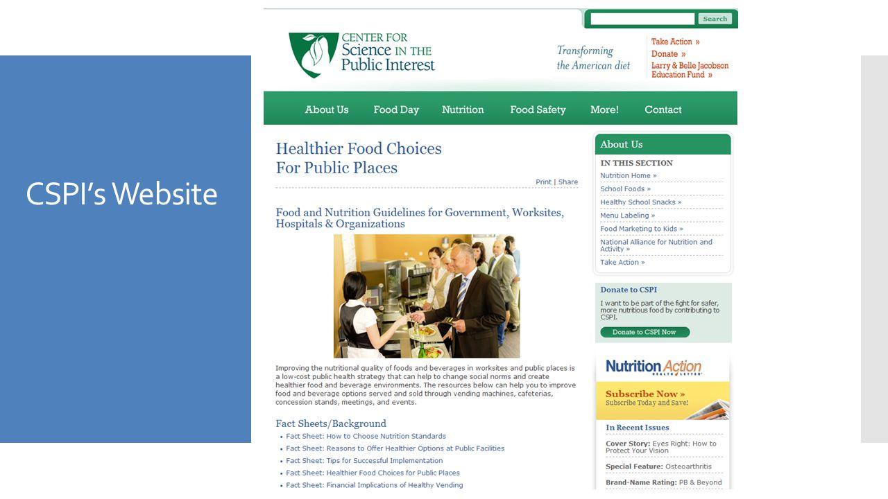 CSPI's Website