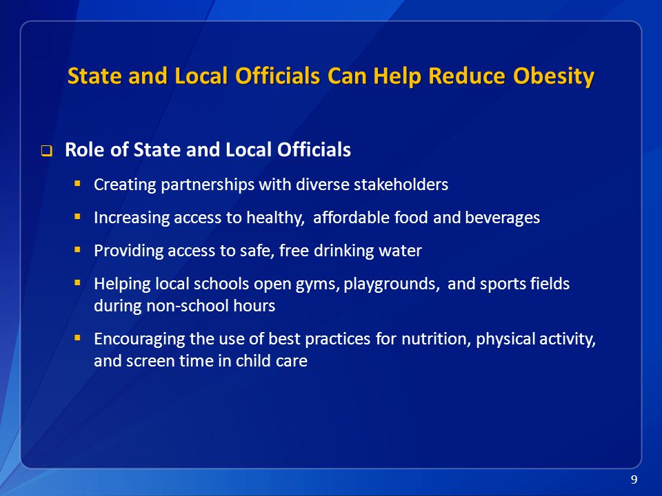 10 Resources  Vital Signs Town Hall Teleconference www.cdc.gov/stltpublichealth/townhall www.cdc.gov/stltpublichealth/townhall  Vital Signs www.cdc.gov/vitalsignswww.cdc.gov/vitalsigns  Overweight and Obesity www.cdc.gov/obesitywww.cdc.gov/obesity  Childhood Overweight and Obesity www.cdc.gov/obesity/childhoodwww.cdc.gov/obesity/childhood  CDC's State Indicator Reports www.cdc.gov/obesity/resources/reports.html www.cdc.gov/obesity/resources/reports.html