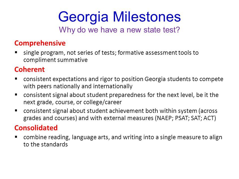 Georgia Milestones Who is taking it.