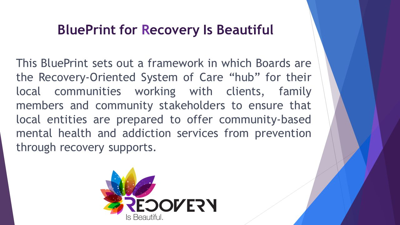 Recovery is Beautiful – Next Steps  Championing the Recovery is Beautiful movement  Moving the BluePrint and ROSC forward in OHIO  Continuing to enhance the Recovery Is Beautiful web site Engaging clients and family members – (Send us your recovery stories to share on RecoveryisBeautiful.org)  Incorporating Recovery into all aspects of what we do Join us and help make Recovery Beautiful in Ohio