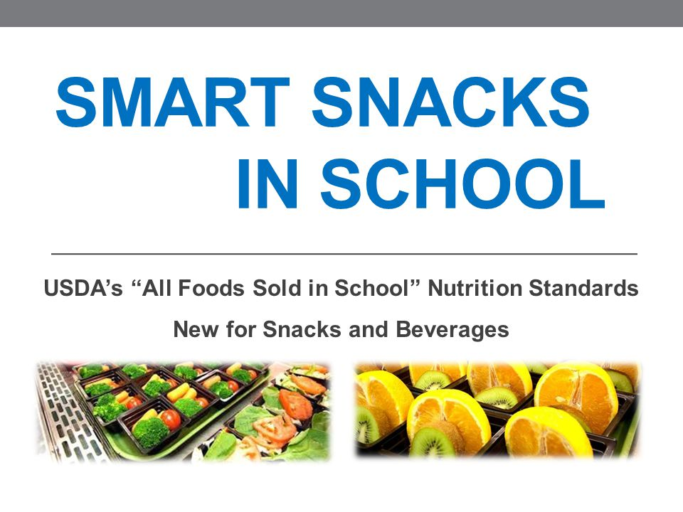 SNA Comments Continued SNA believes that the rule, when implemented, should: Provide flexibility, simplicity, and minimum standards, consistent with the Meal Pattern Guidelines, limiting the additional burden as required by Healthy Hunger-Free Kids Act. Any product used as part of the reimbursable lunch should be able to be sold without any further restrictions. Establish a level playing field between SFA's and other school sellers. Provide nutrition education to children. Recognize that School Food Directors make nutrition decisions that are best for students.