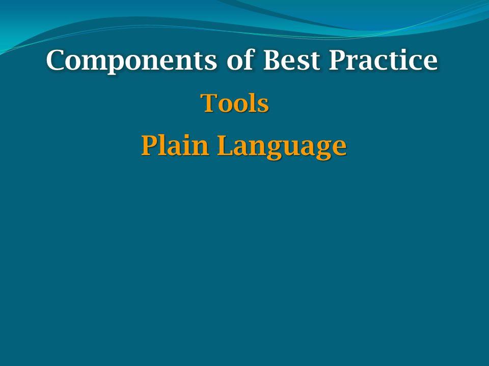 Tools Plain Language