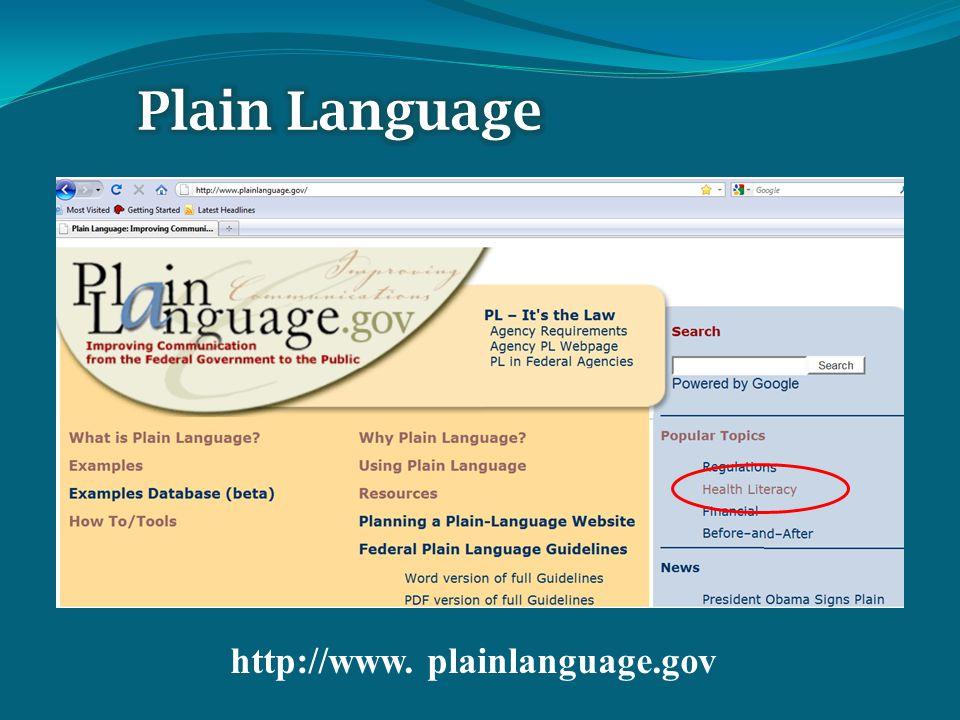 http://www. plainlanguage.gov