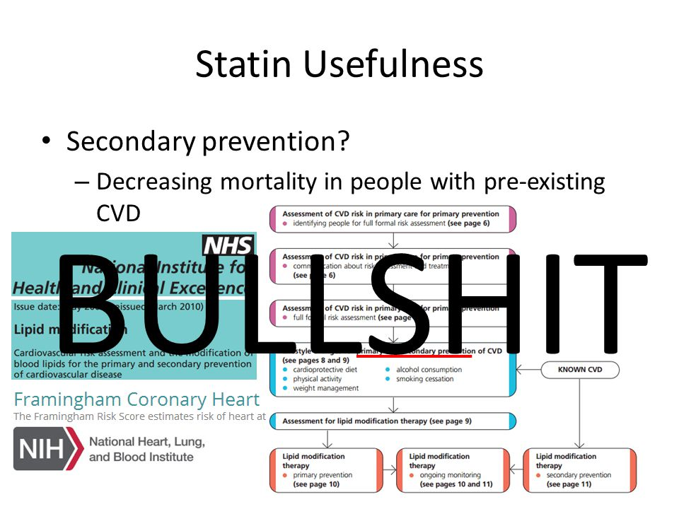 Statin Usefulness Secondary prevention.