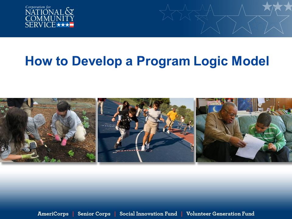 Learning objectives By the end of this presentation, you will be able to: Describe what a logic model is, and how it can be useful to your daily program operations Identify the key components of a logic model Develop a logic model for your program Use a logic model for evaluation planning