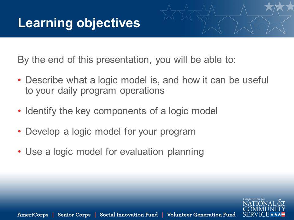 Resources for logic model development W.K.