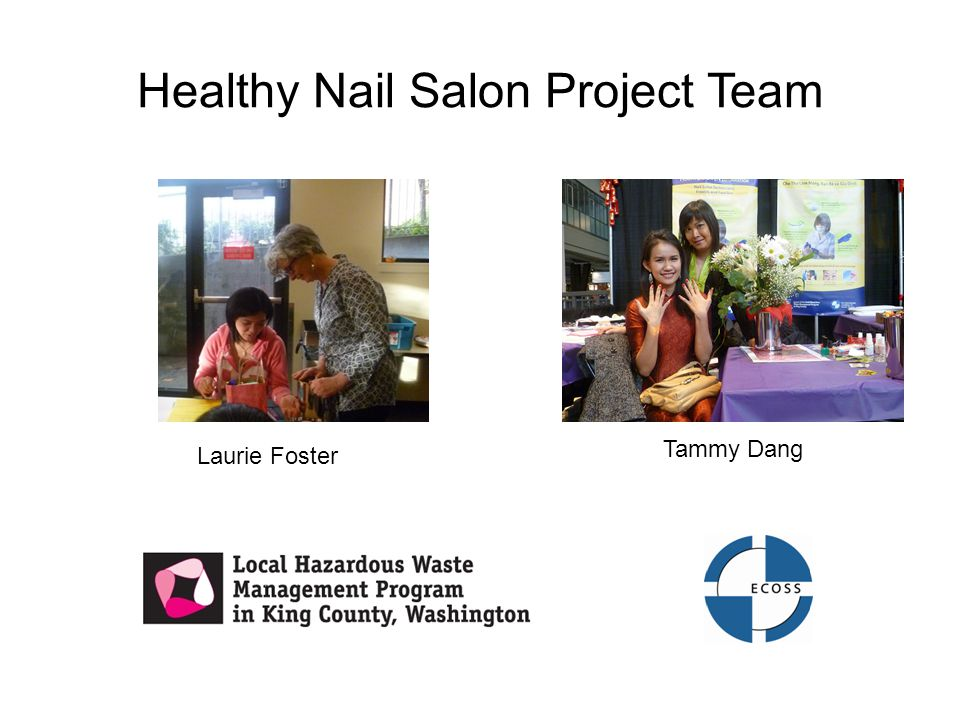 Healthy Nail Salon Project Team Tammy Dang Laurie Foster