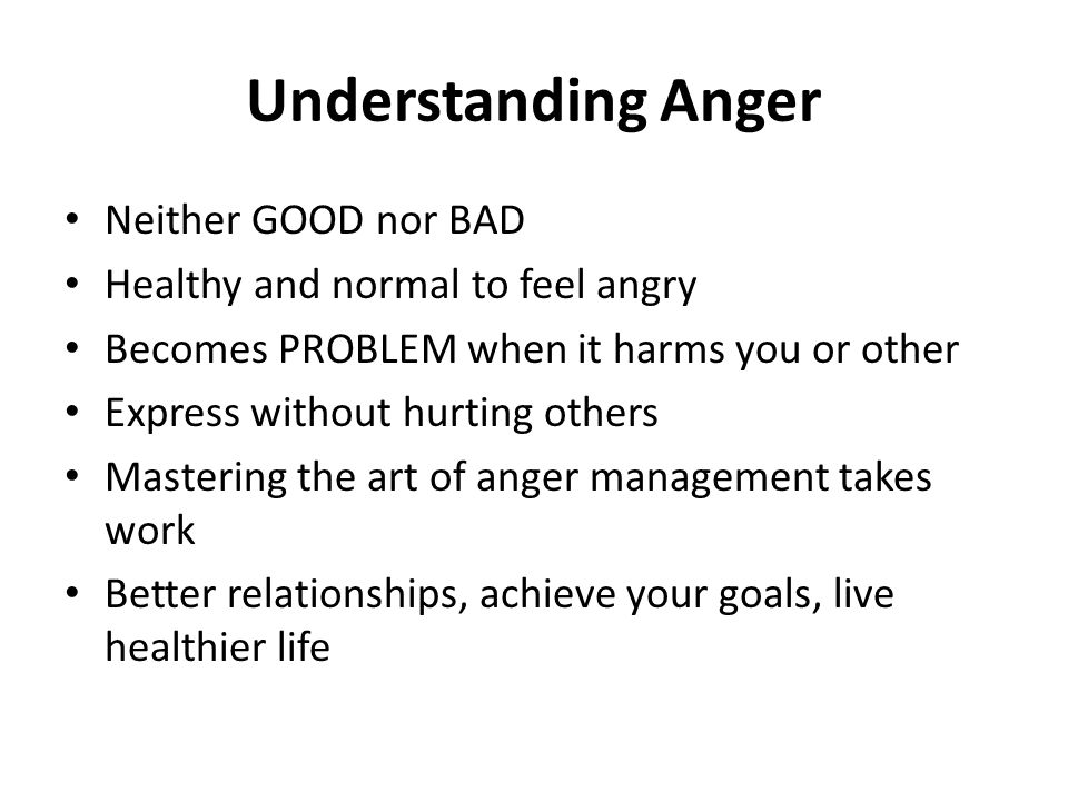Myths about Anger I shouldn't hold in my anger.