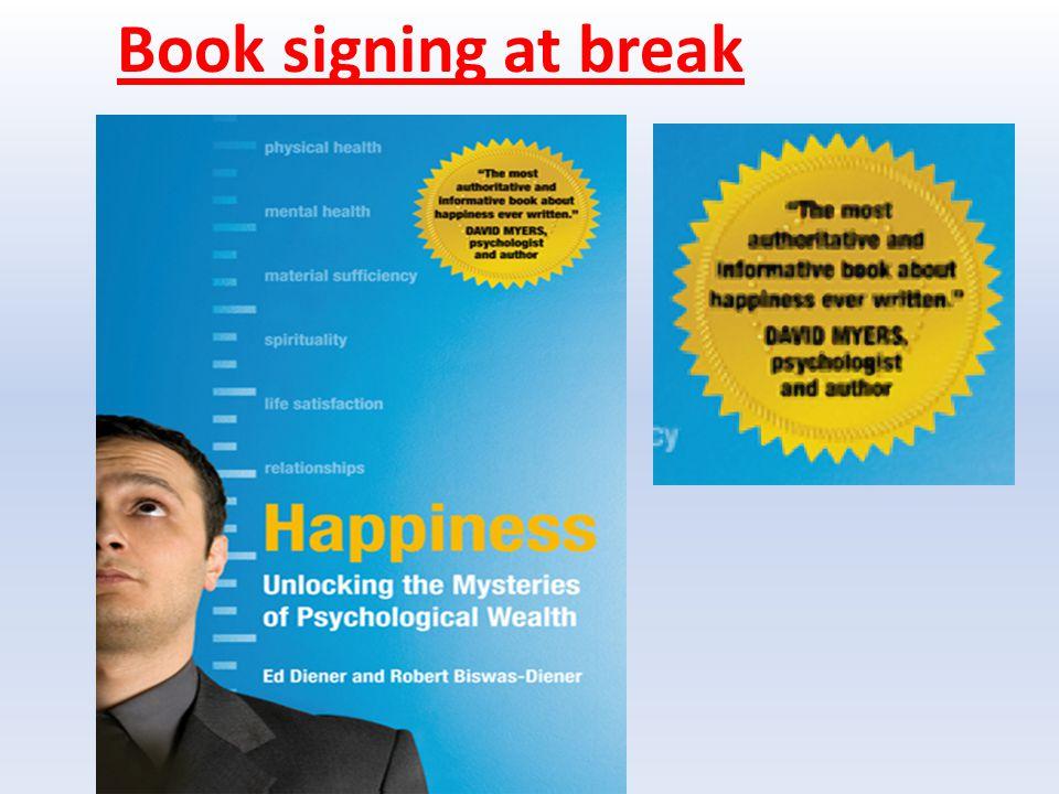 Book signing at break