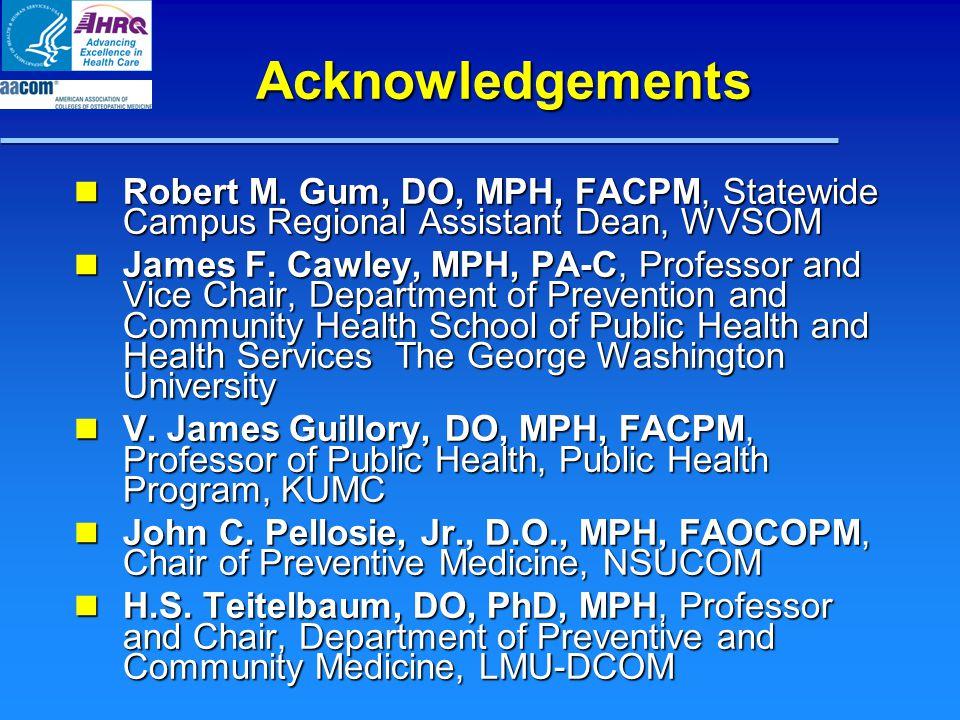 Acknowledgements Robert M.