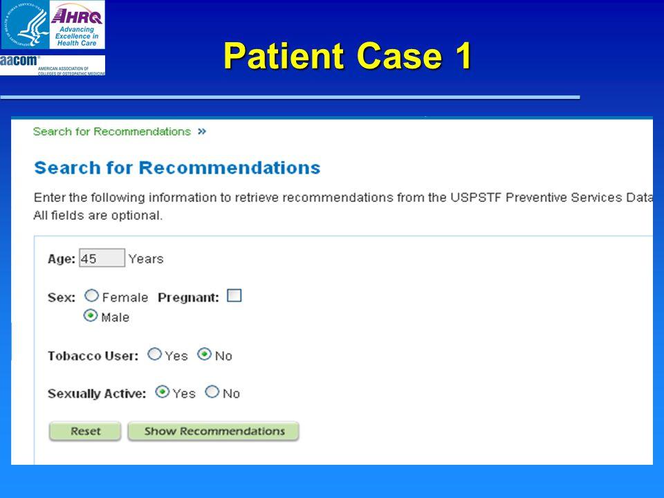 Patient Case 1