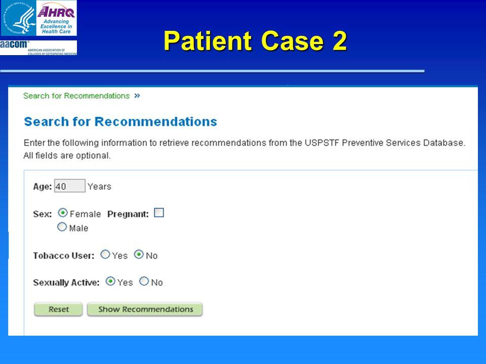 Patient Case 2
