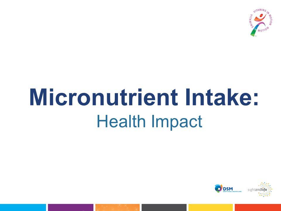 Micronutrient Intake: Health Impact