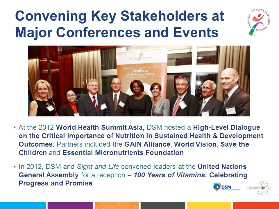 At the 2012 World Health Summit Asia, DSM hosted a High-Level Dialogue on the Critical Importance of Nutrition in Sustained Health & Development Outcomes.