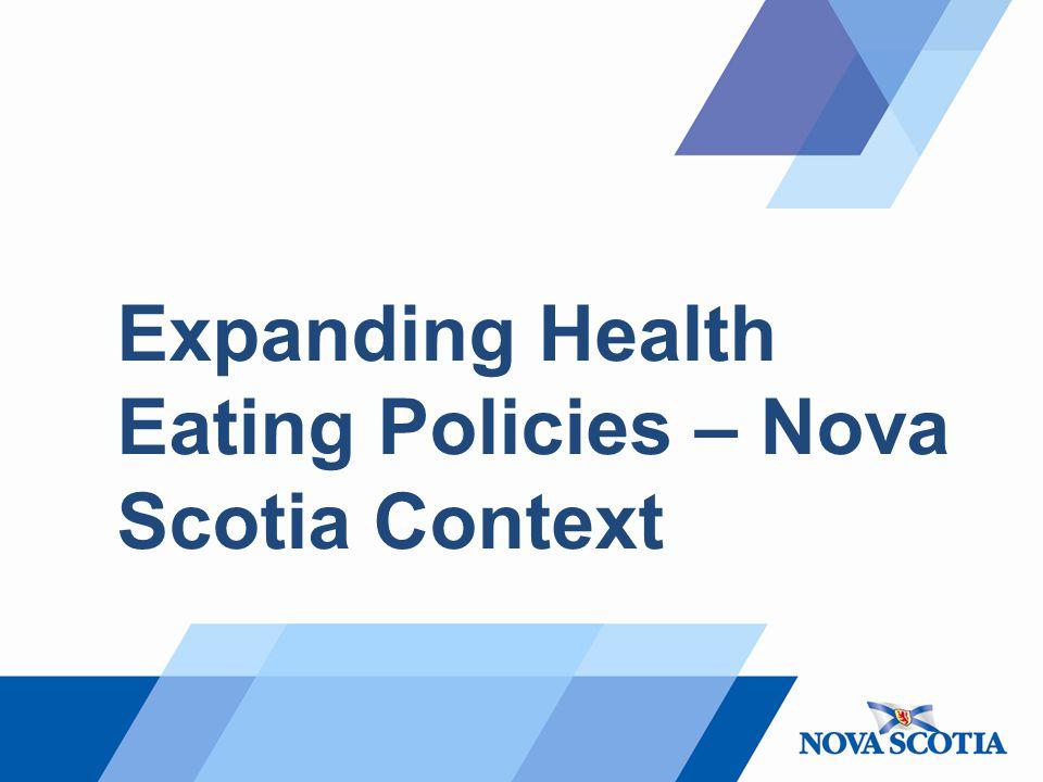 Expanding Health Eating Policies – Nova Scotia Context