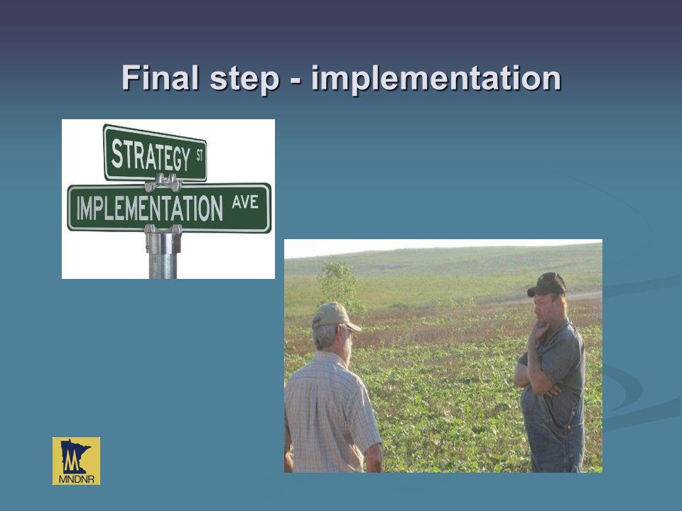Final step - implementation GIS LiDAR