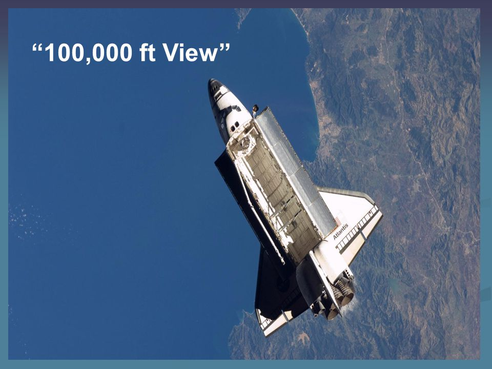 100,000 ft View