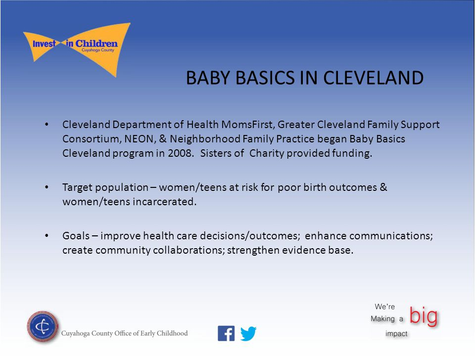 Books and planners provided Training conducted Used in all MomsFirst home visiting Used in 5 clinical sites Moms Clubs established
