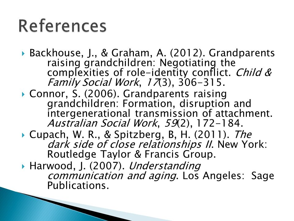  Backhouse, J., & Graham, A. (2012).