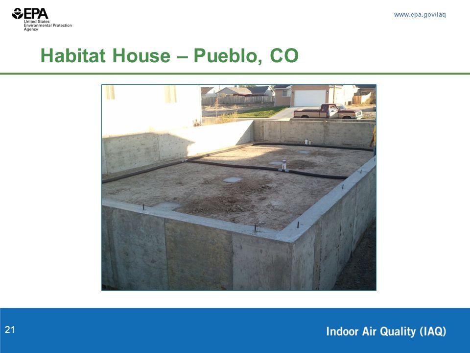 www.epa.gov/iaq 21 Habitat House – Pueblo, CO