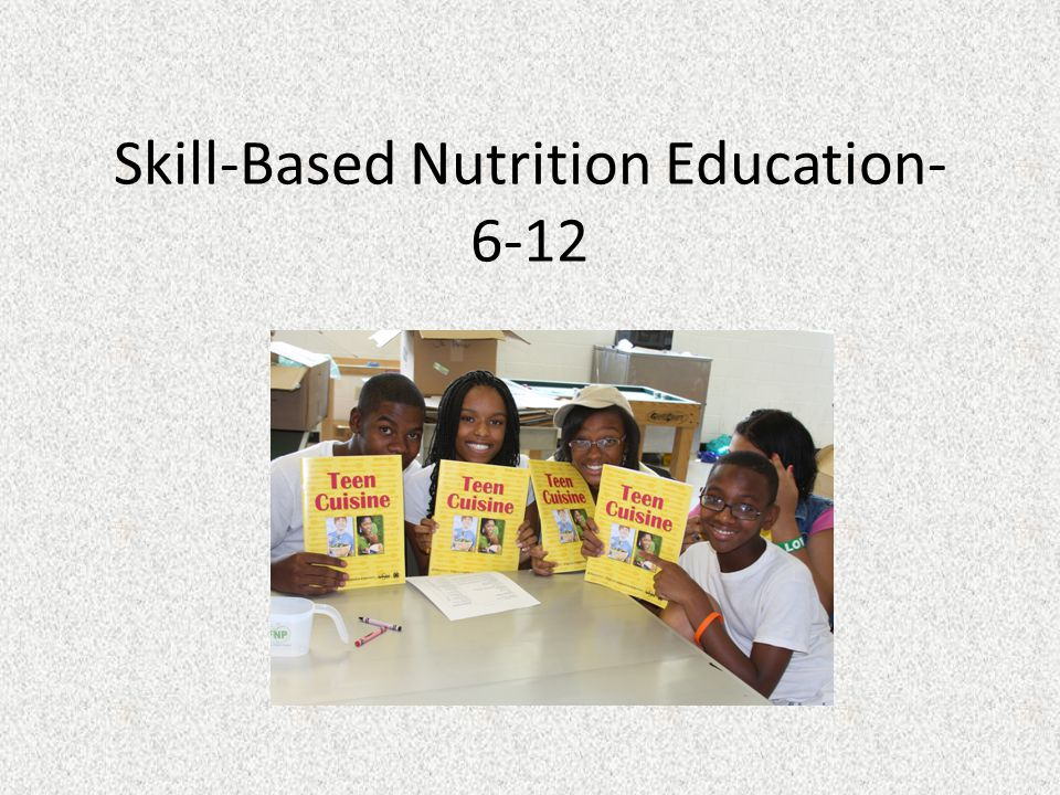 Skill-Based Nutrition Education- 6-12